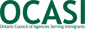Logo d'OCASI - Ontario Council of Agencies Serving Immigrants